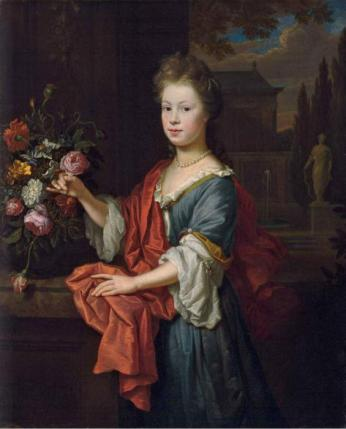 A Young Girl, 1704 (Thomas van der Wilt) (1659-1733)   The Weiss Gallery, London