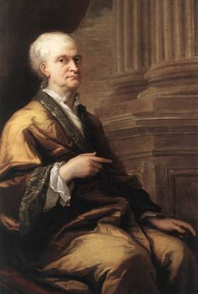 Sir Isaac Newton, ca. 1709-1712 (James Thornhill) (1676-1734) Woolsthorpe Manor, Lincolnshire