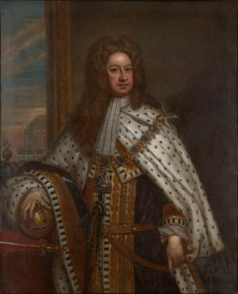 King George I of England, ca. 1715 (Sir Godfrey Kneller)  (1646-1723) Yale University Art Gallery, New Haven, CT