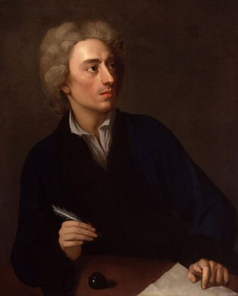 Alexander Pope, 1727   (Michael Dahl) (1659-1743)  National Portrait Gallery, London    NPG 4132