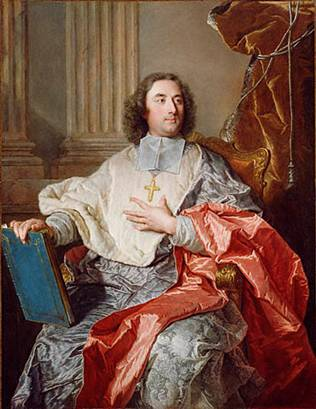 Charles de Saint-Albin. Archbishop of Cambrai, 1723 (Hyacinthe Rigaud) (1659-1743) J. Paul Getty Museum, Los Angeles, CA 88.PA136