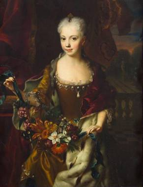 Archduchess Maria Anna of Austria, 1727  (Andreas Moller) (??-??)   Kunsthistorishes Museum, Wien     Inv.-Nr. GG_2073