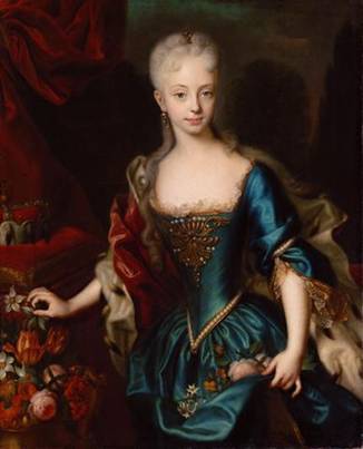Maria Theresa at 11 years old, ca. 1728  (Andreas Moller)  (1684-1762) Kunsthistorishes Museum, Wien   Inv.-Nr. GG_2115