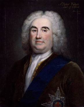 Robert Walpole, 1st Earl of Orford, ca. 1742 (Arthur Pond) (1705-1758) National Portrait Gallery, London NPG 6085