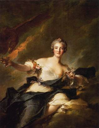 The Duchesse de Chaulnes as Hebe, ca. 1744 (Jean-Marc Nattier) (1685-1766) Musée du Louvre, Paris