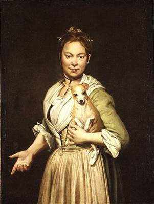 A Woman with a Dog, ca. 1745 (Giacomo Ceruti) (1698-1767) The Metropolitan Museum of Art, New York, NY 30.15
