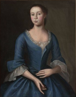 Elizabeth Storer, Mrs. Isaac Smith, ca. 1746 (Joseph Badger) (1708-1765) Museum of Fine Arts, Boston 42.376