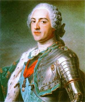 Louis XV, King of France, ca. 1748 (Maurice Quentin de la Tour) (1702-1788) Musée du Louvre, Paris