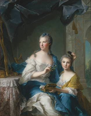 Madame Marsollier and her Daughter, ca. 1749 (Jean-Marc Nattier) (1685-1766) The Metropolitan Museum of Art, New York, NY 45.172