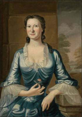 Mrs. Henry Bromfield, ca. 1749 (Margaret Fayerweather) ca. (John Greenwood) (1727-1792) Museum of Fine Arts, Boston 62.173