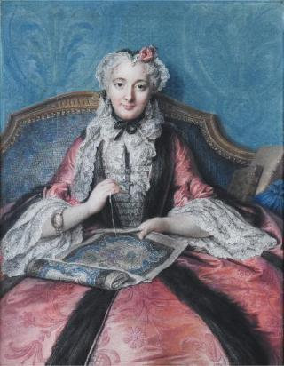 A Lady, 1746 (Charles Antoine Coypel) (1694-1752) Sotheby's Old Master's Sale June 23rd 2011 Lot 55