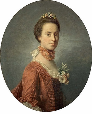 Mary Digges, Lady Robert Manners, ca. 1756 (Allan Ramsay) (1713-1784) Scottish National Gallery, Edingburgh, NG 1523