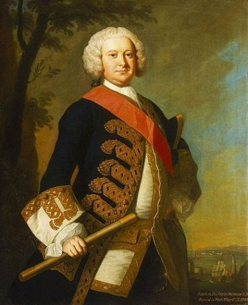 Admiral Sir Peter Warren, ca. 1748-1752 (Thomas Hudson) (1701-1779) National Maritme Museum, Greenwich