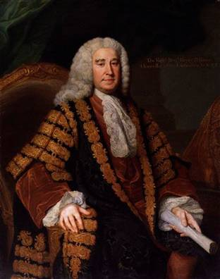 Henry Pelham,Whig Prime Minister of England, ca. 1751 (William Hoare) (1707-1792) National Portrait Gallery, London NPG 221