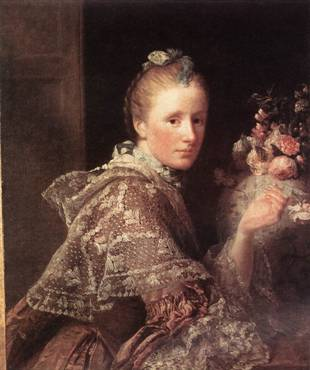 The Artists Wife, ca. 1754-1755 (Allan Ramsay) (1713-1784)  National Galleries of Scotland, Edinburgh