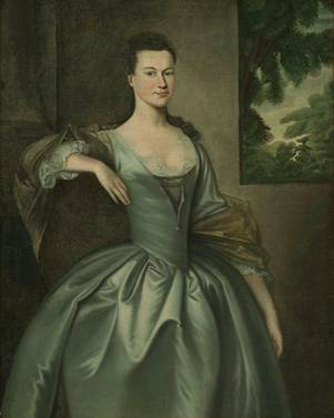 Mrs. Joseph Blaney (Abigail Browne), ca. 1757 (Joseph Blackburn) (fl. 1753-1763) Museum of Fine Arts, Boston 29.785