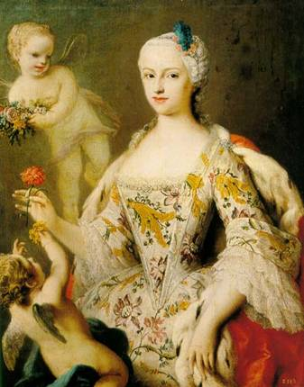 Maria Antonia of Spain, Queen Consort of Bohemia ca. 1750 (Unknown Artist) Location TBD