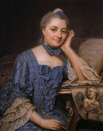 Marie Fel, ca. 1750  (Maurice Quent n de la Tour) (1704-1788)   Private Collection