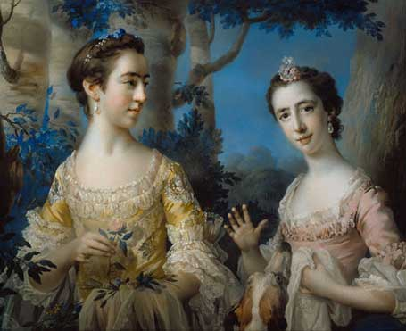 Two Young Women, 1757 (Francis Cotes) (1726-1770) Speed Museum of Art, Louisville, KY 1998.6.2