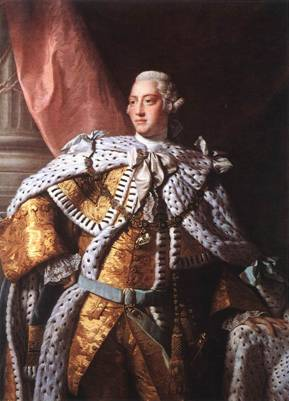 George III, King of England, ca. 1762 (Allan Ramsay) (1713-1784) National Portrait Gallery, London