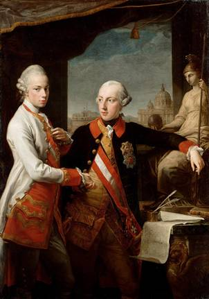 Joseph II and older brother Leopold, ca. 1769 (Pompeo Batoni) (1708-1787) Kunsthistorisches Museum, Wien Inv.-Nr. GG_1628