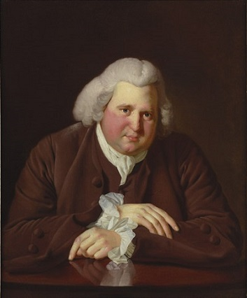 Erasmus Darwin, ca. 1770 (Joseph Wright of Derby) (1734-1797) Birmingham Museum and Art Gallery, UK