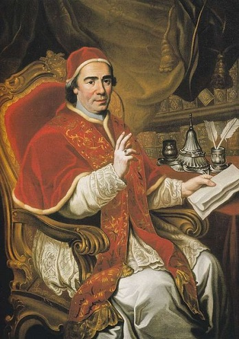 Pope Clement XIV, ca. 1773 (Unknown Artist)  Location TBD
