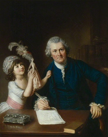 Christopher Anstey with his daughter, ca. 1775 (William Hoare) (1707-1792)   National Portrait Gallery, London,   NPG  3084