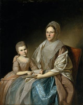 Mrs. Samuel Mifflin and her Granddaughter, ca. 1777 (Charles Wilson Peale) (1741-1827)   The Metropolitan Museum of Art, New York, NY    22.153.2