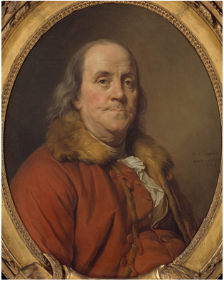 Benjamin Franklin, 1778  (Joseph Duplessis) (1725-1802)   The Metropolitan Museum of Art, New York, NY    32.100.132