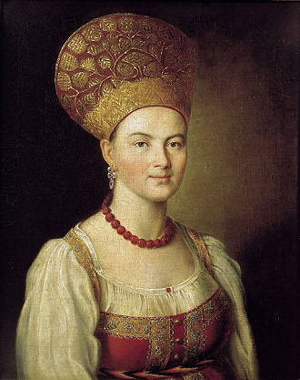 A Woman, 1784 (Ivan Argunov) (1727-1802) State Tretyakov Gallery, Moscow