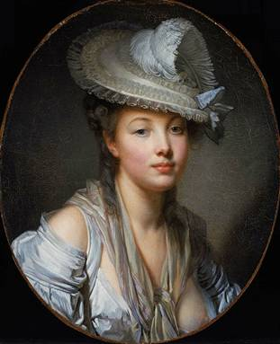 "A Young Woman, ""The White Hat"", ca. 1780 (Jean-Baptiste Greuze) (1725-1805) Museum of Fine Arts, Boston 1975.808"