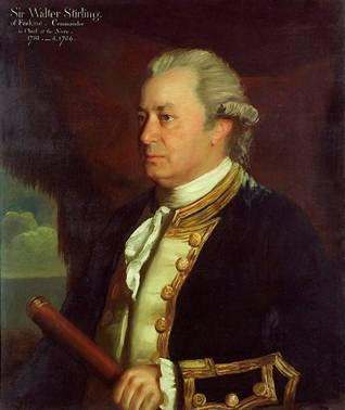 Captain Sir Walter Stirling, ca. 1780 (James Northcote) (1746-1831) National Maritime Museum, Greenwich, London BHC3038