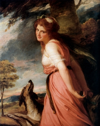 Emma, Lady Hamilton as a Bacchante, 1785 (George Romney) (1734-1802) Location TBD