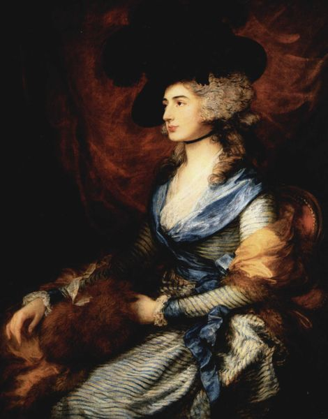 Mrs. Sarah Siddons, 1785 (Thomas Gainsborough) (1727-1788) The National Gallery, London