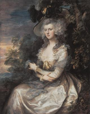 Mrs. Thomas Hibbert, ca. 1780's (Thomas Gainsborough) (1727-1788) Neue Pinakothek, München