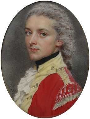 W. S. Dawe of the Indian Infantry, 1787 (John Smart) (1742-1811) Victoria and Albert Museum, London Miniatures, Room 90a Case 12