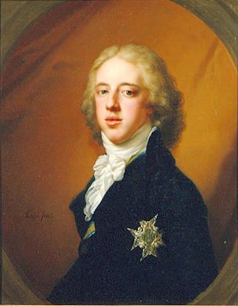 Gustav IV Adolf, King of Sweden, ca. 1796 (Johann Baptist von Lampi the Elder) (1751-1830)   Location TBD