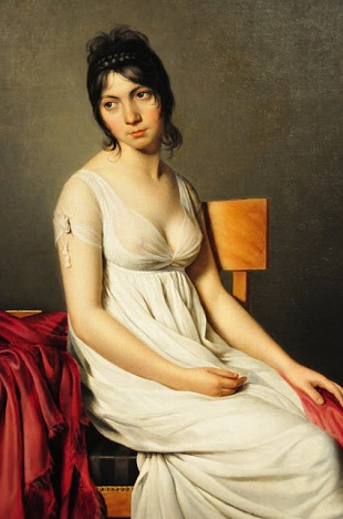 A Young Woman, ca. 1798 (circle of Jacques Louis David) (1748-1825)  National Gallery of Art, Washington, D.C., 1963.10.118