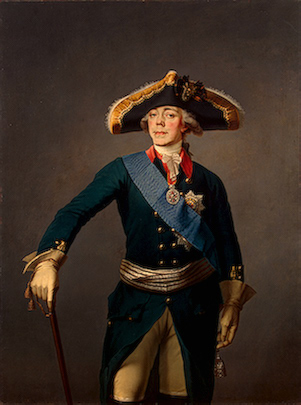 Paul I, Czar of Russia, ca. 1796-1797 (Unknown Artist) Location TBD