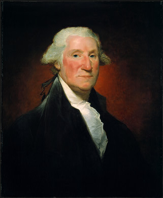 "George Washington, ca. 1795  (Gilbert Stuart)  ""Vaughan Group"" (1755-1828)   National Gallery of Art, Washington  D.C. 1942.8.27"