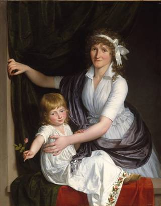A Woman and Child, ca. 1795-1798 (Unknown French Artist)  The Metropolitan Museum of Art, New York, NY    1983.264