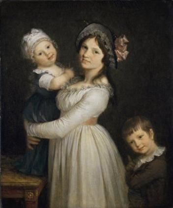 Madame George Anthony with children, 1795 (Pierre Paul Prudhon) (1758-1823)  Musée des Beaux-Arts de Lyon  B493