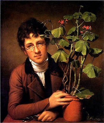 Rubens Peale with a geranium, 1801 (Rembrandt Peale) (1778-1860)   National Gallery of Art, Washington D.C.,  1985.59.1