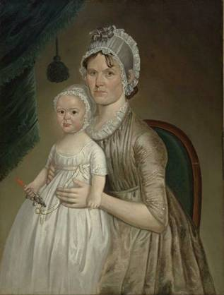 Mrs. Cephas Smith, Jr. and Child,  ca. 1803  (William Jennys)  (1774-1858)   Museum of Fine Arts, Boston    1974.135
