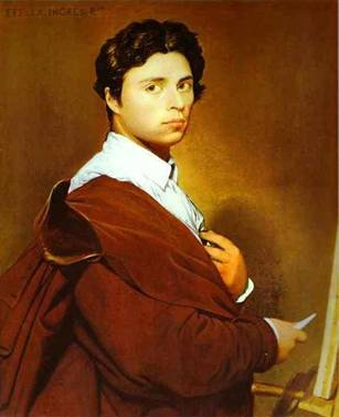 Self-Portrait at 24 years old, ca. 1804 (Jean-Auguste-Dominique Ingres) (1780-1867)  Location TBD