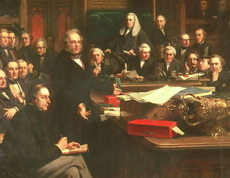 Lord Palmerston Addressing the House of Commons During the Debates on the Treaty of France, February, 1860 by John Philip, Location TBD