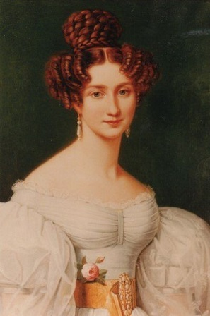 Eugénie de Beauharnais, Princess of Hohenzollern-Hechingen, 1826 (Joseph Karl Stieler) (1781-1858) Location TBD