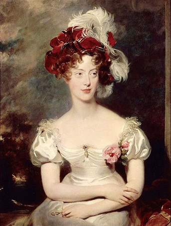 Marie Caroline de Bourbon, Duchesse of the Two Sicilies, ca. 1825 (Sir Thomas Lawrence) (1769-1830) Musée National du Château et des Trianons, Versailles
