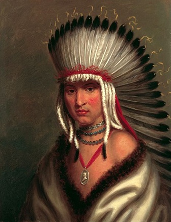 "Petalesharro, ""Generous Chief"" of the Pawnee Nation, ca. 1822 (Charles Bird King) (1785-1862) White House Library, Washington D.C."